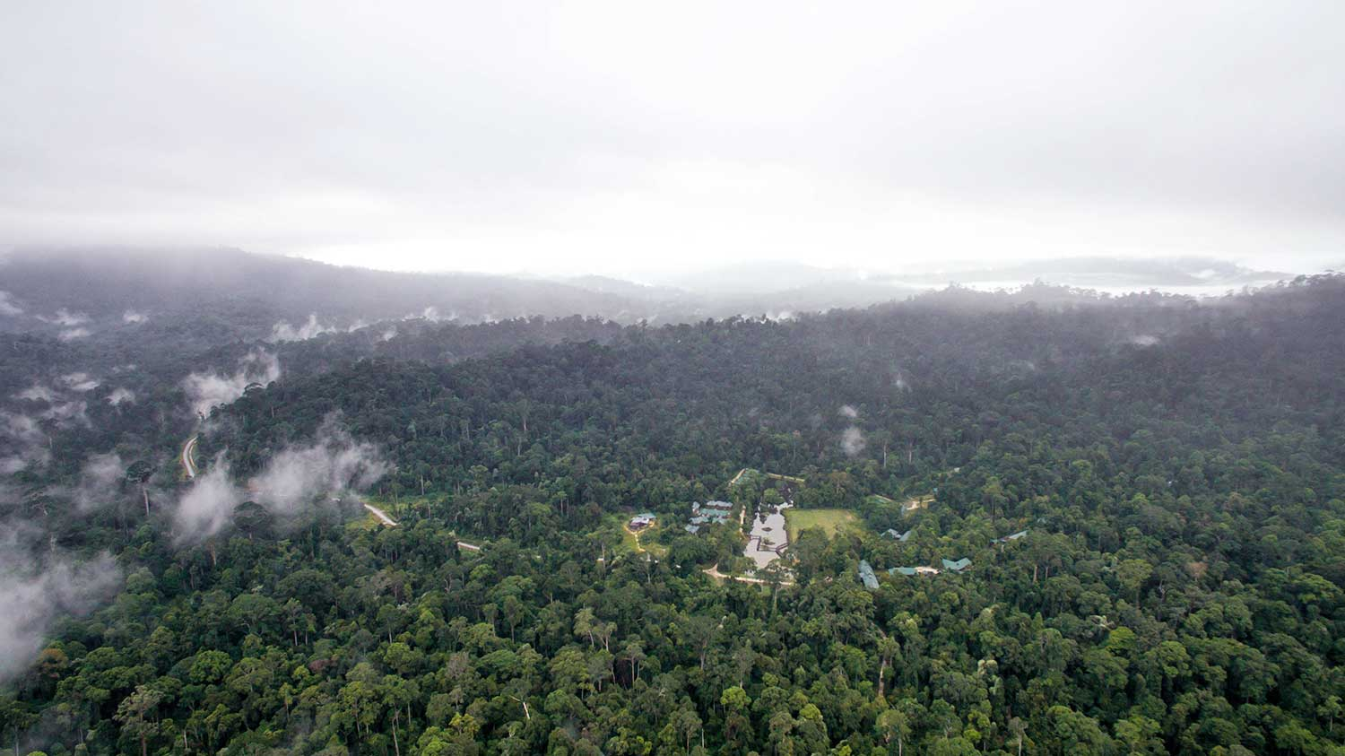 Maliau Basin Study Center Aerial Shot