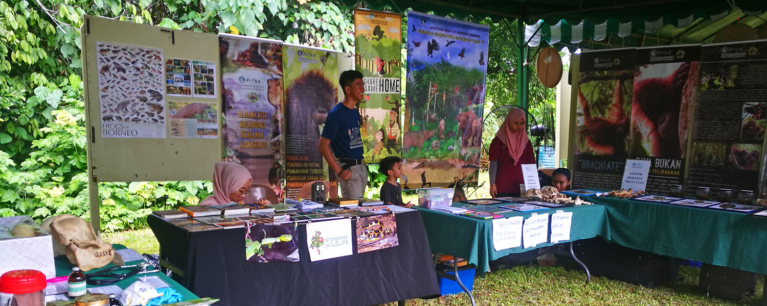 Booths providing useful information on conservation