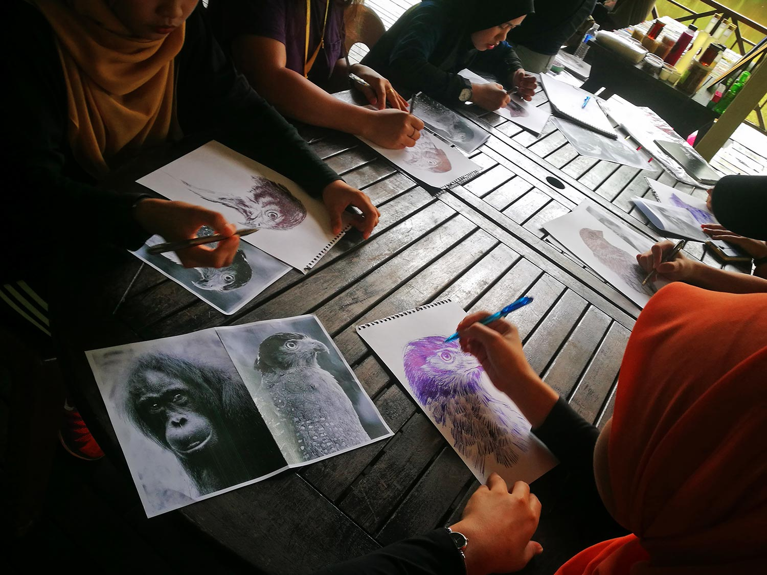 Drawing Competition at the Lakeside Pavilion in RDC